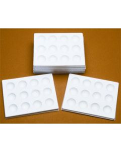 Spot Plates, Polystyrene with 12 Depressions, Pack of 12