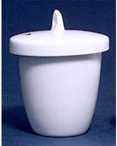 Crucible, High Form 15ml, Porcelain with Lid (Pack of 12)